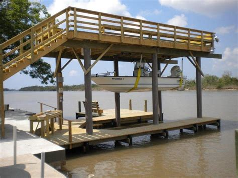 boat lift pilings 17 best images about lake house boat house sun decks and