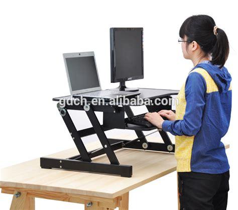 Laptop Desk Riser Portable Wooden Desktop Table Folding Adjustable Laptop Riser Standing Desk Buy Adjustable