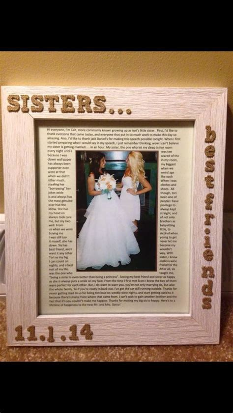 picture frame I made for my sister with my maid of honor