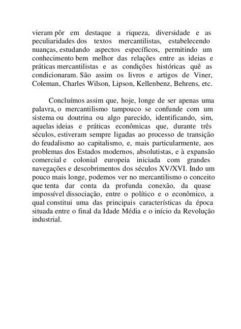 Falcon, francisco mercantilismo e transição