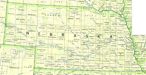 nebraska county map map of nebraska rivers