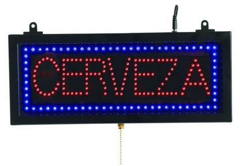 cer sinks and stoves aarco cer07s high visibility led cerveza sign 3 display