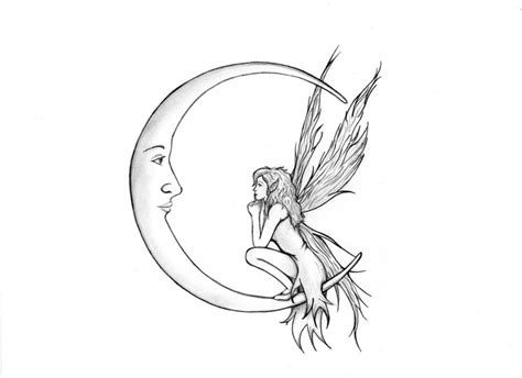 fairy and moon by cherry pi on deviantart