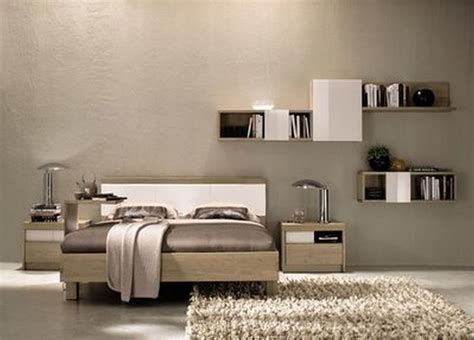 modern spare bedroom ideas incridible custom floating shelf hang on grey accent wall
