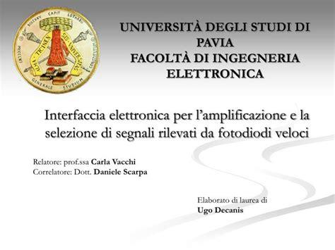 ingegneria elettronica pavia ppt universit 192 degli studi di pavia facolt 192 di