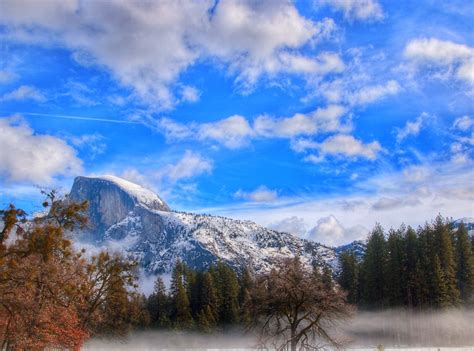 half dome yosemite valley california this view