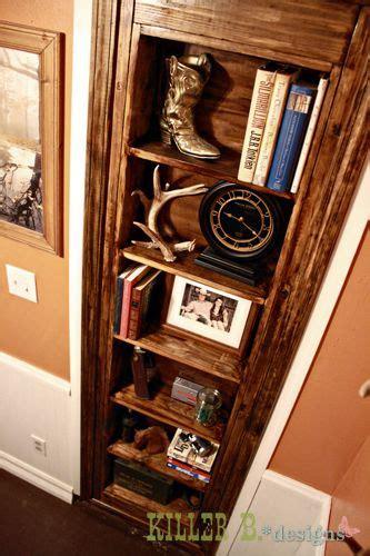 hidden gun cabinet bookcase woodworking projects plans