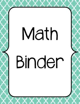 printable math binder covers guided math binder and planning template by cindylou tpt