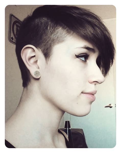 extremely short in back with bangs long bangs super short back very cool undercuts