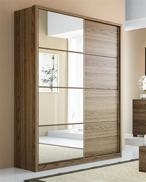 Wardrobe With Doors by Manhattan Comfort Bellevue 2 Sliding Doors