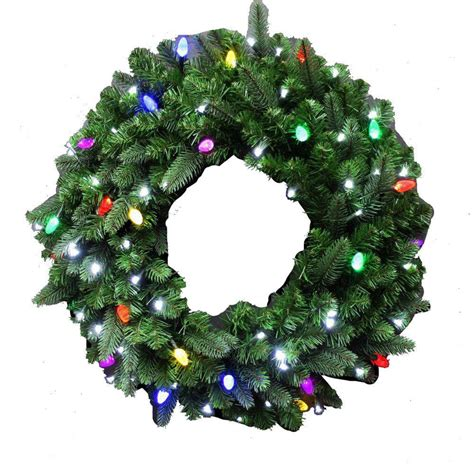 outdoor lighted christmas wreath cordless christmas decore