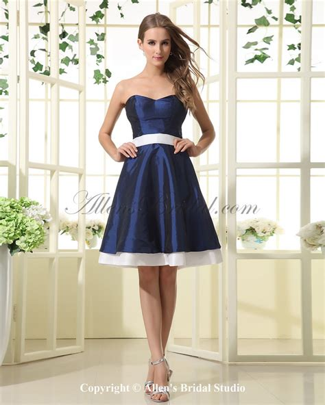 Dress A Line by Allens Bridal Satin Sweetheart Knee Length A Line