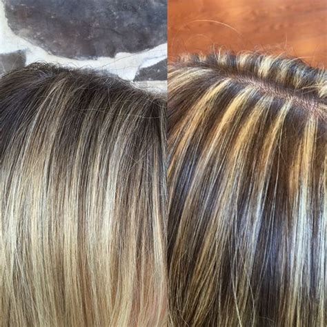 where to place foils for ombre balayage on pinterest