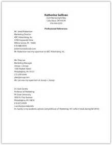 List Of Professional References Template Gallery For Gt Resume Reference List Template
