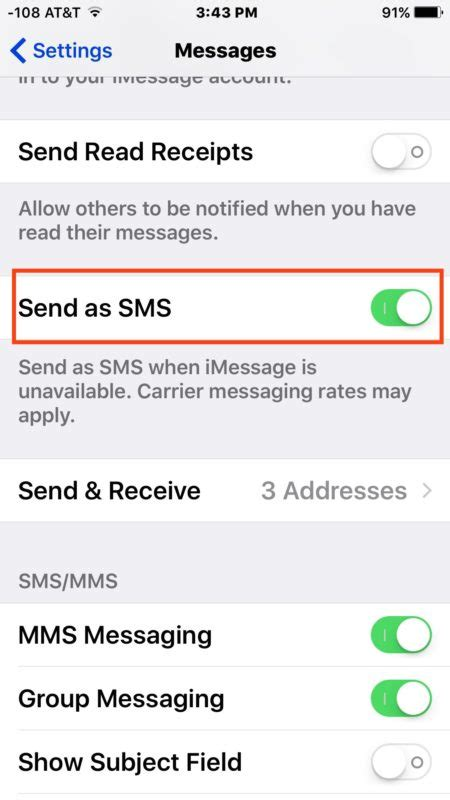not receiving texts on android iphone sms not delivered to android