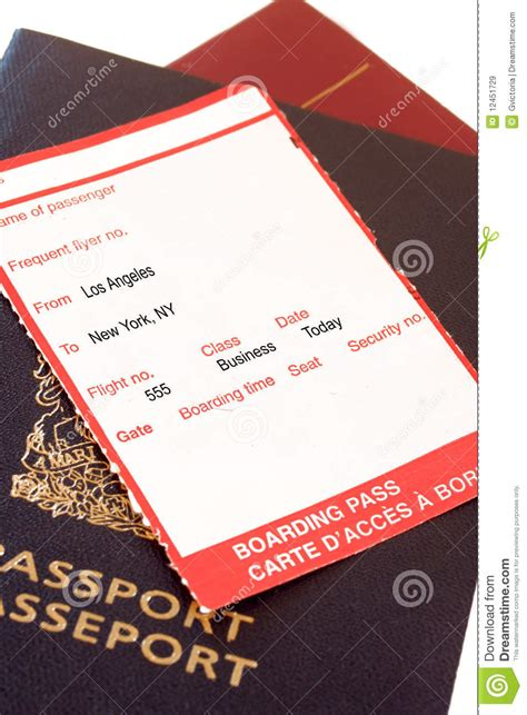 boarding los angeles los angeles new york boarding pass royalty free stock images image 12451729