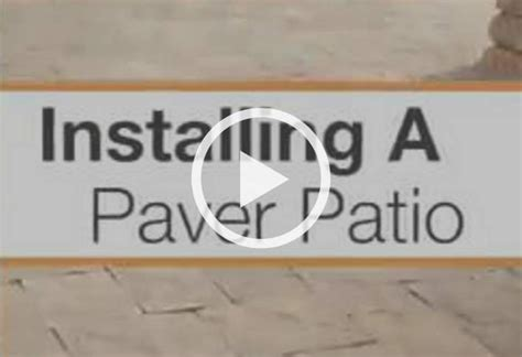 how to install a patio installing a paver patio at the home depot