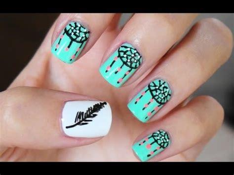 easy nail art youtube easy dreamcatcher nail art youtube