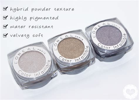 L Oreal Infallible Eyeshadow l oreal color infallible eyeshadow review swatches