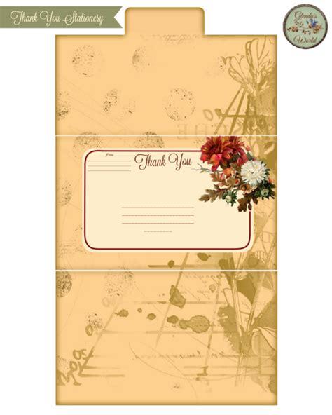 Tri Fold Thank You Cards