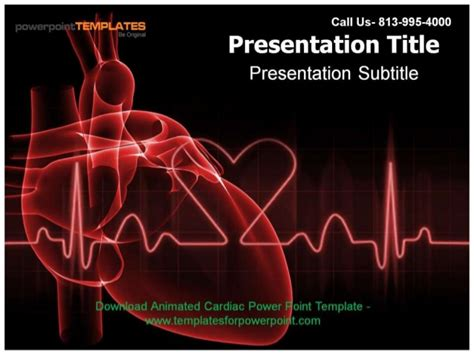 Animated Cardiac Powerpoint Template Cardiovascular Powerpoint Template Free