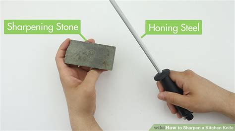 how to sharpen kitchen knives at home 3 ways to sharpen a kitchen knife wikihow