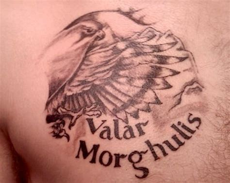 valar morghulis tattoo 34 best of thrones tribute tattoos tattooblend
