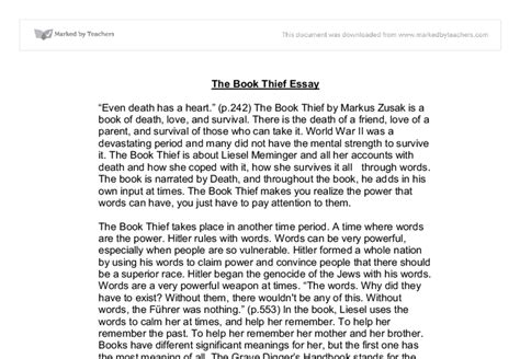 Book Of Essay by The Book Thief Linguistics Classics And Related Subjects Marked By Teachers