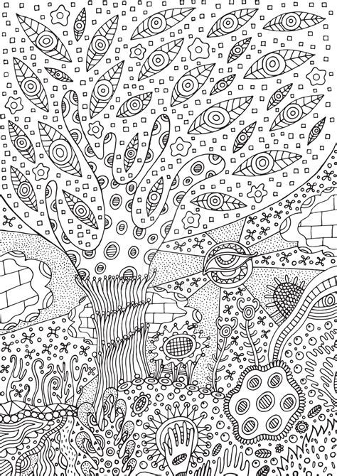 color my art surreal 1547288418 surreal tree coloring page by fesleen on