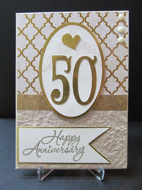 savvy handmade cards 50th anniversary card