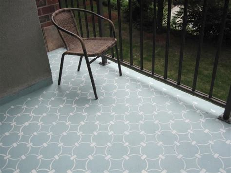 learn how to stencil a concrete balcony 171 stencil stories