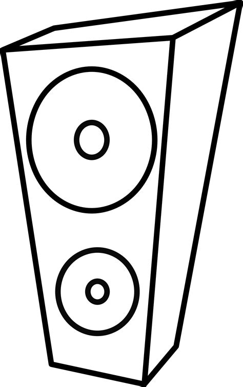 Parallelgraphics Outline 3d by Speakers Clipart Black And White Clipart Best