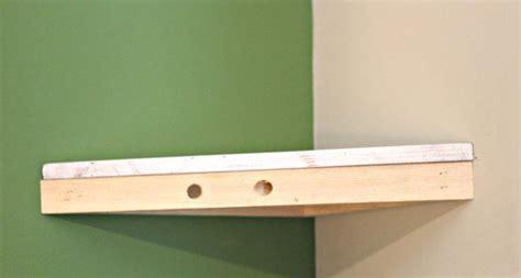 how to build a corner shelf top indoor diy
