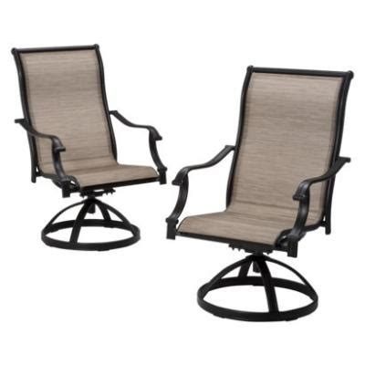 patio furniture with swivel chairs patio swivel chair set furniture