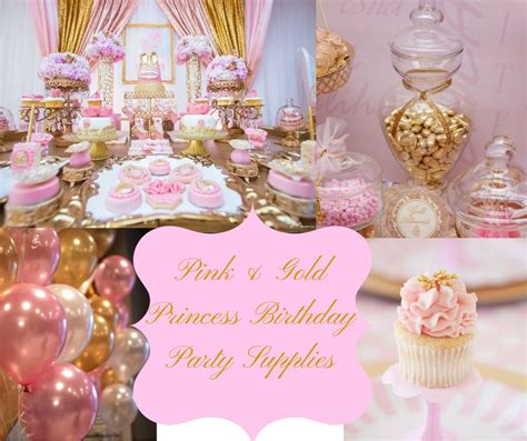 pink gold princess birthday supplies hip who