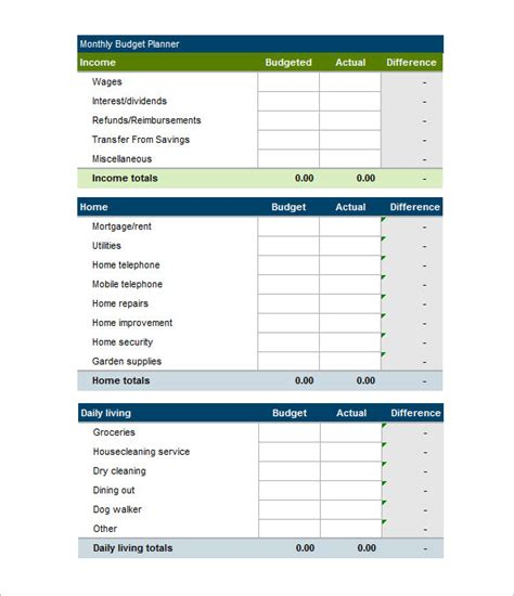 budget template 41 free word excel pdf format
