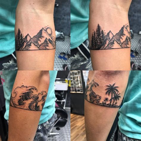 get tattoo in kuala lumpur arm band to commemorate a year traveling the world artist