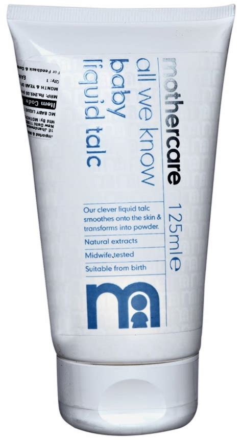 buy mothercare all we baby liquid talc 125ml
