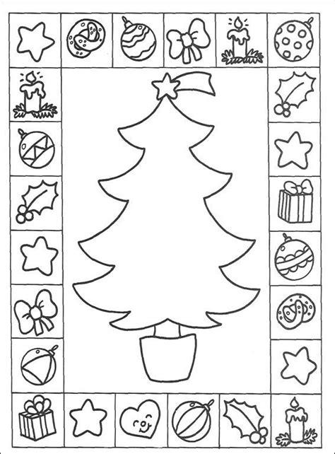 Free Worksheets 187 Xmas Activity Sheets Free Math Decorate A Tree Coloring Page