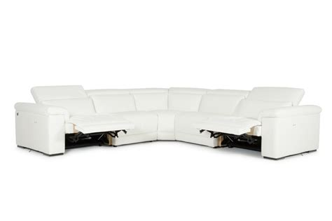White Leather Reclining Sectional Sofa by Estro Salotti Palinuro White Leather Sectional Sofa W Recliners