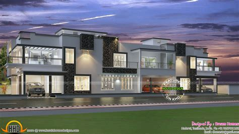 row housing designs row house design and plans kerala home design and floor plans