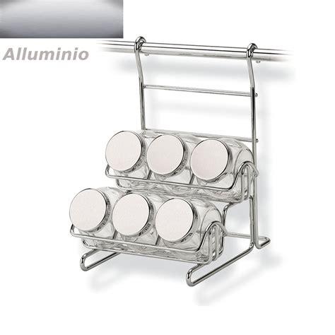 vasetti portaspezie portaspezie con 6 vasetti applicabile alla barra da cucina