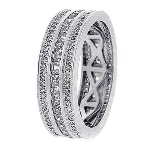 mens white gold diamond ring ebay