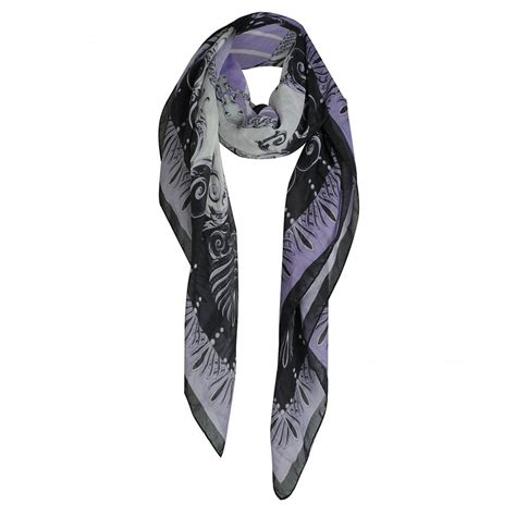 versace collection lilac baroque print square scarf