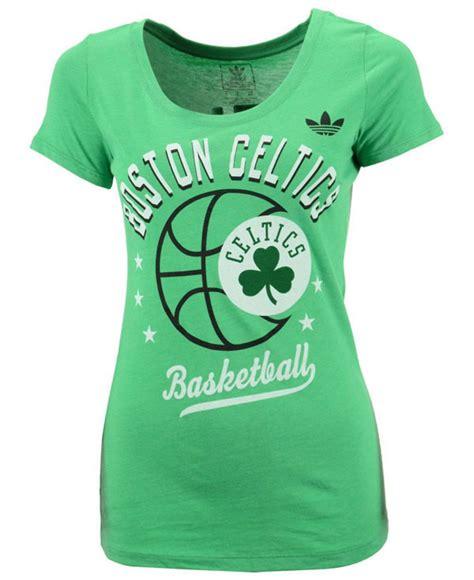 Celtics Adidas Tshirt lyst adidas s boston celtics basketball scoop t