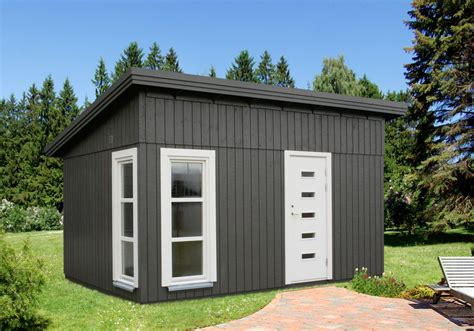 öko Holzhaus by Ger 228 Tehaus Palmako 187 Balduin 187 Flachdach Vom Gartenhaus
