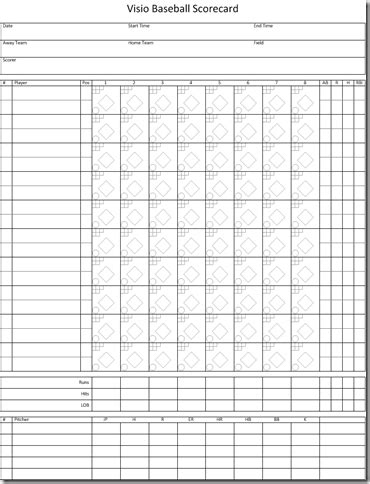 9 Baseball Score Sheet Templates Excel Templates Score Sheet Template Excel