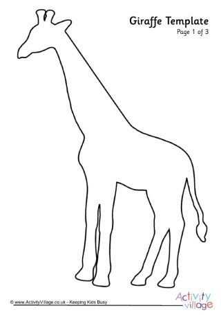 Rhino Template 2 Giraffe Templates To Print