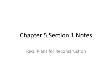 chapter 5 section 1 chapter 5 section 1 notes