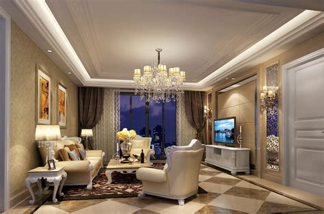 3d view of dining living room interior 3d